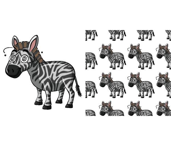 seamless background design with sick zebra