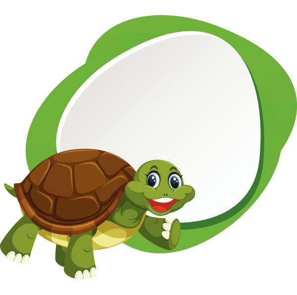 a blank banner with turtle