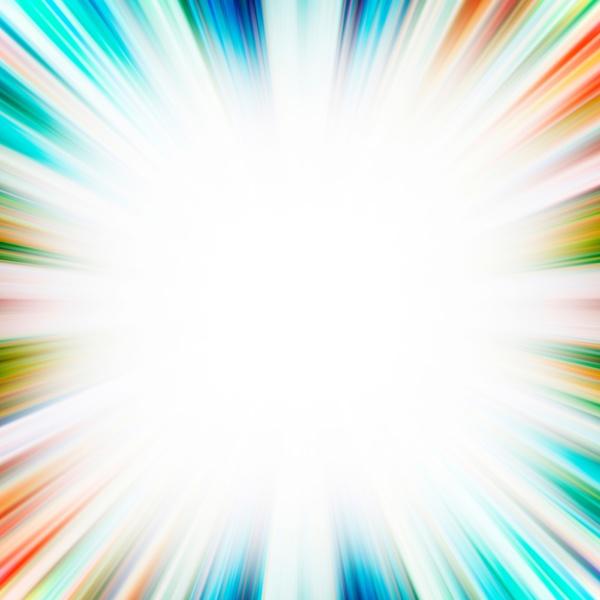 square blue and orange starburst flash