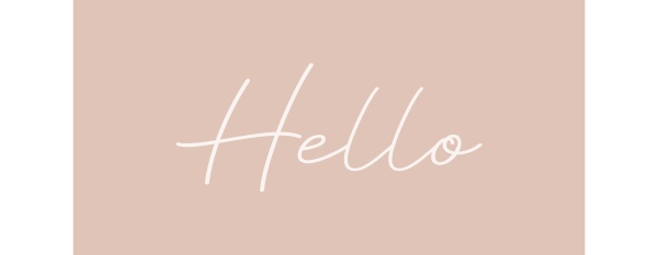 hello hand drawn calligraphy and lettering