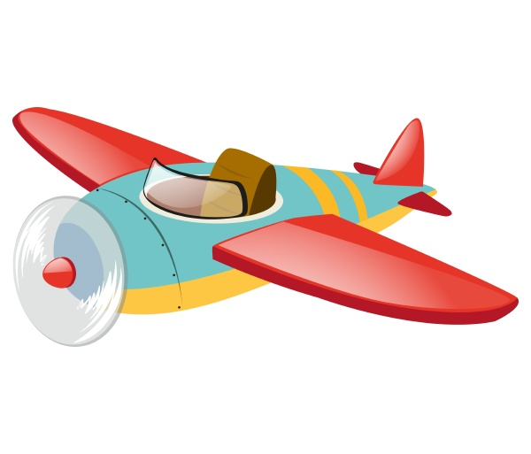 blue plane with red wings