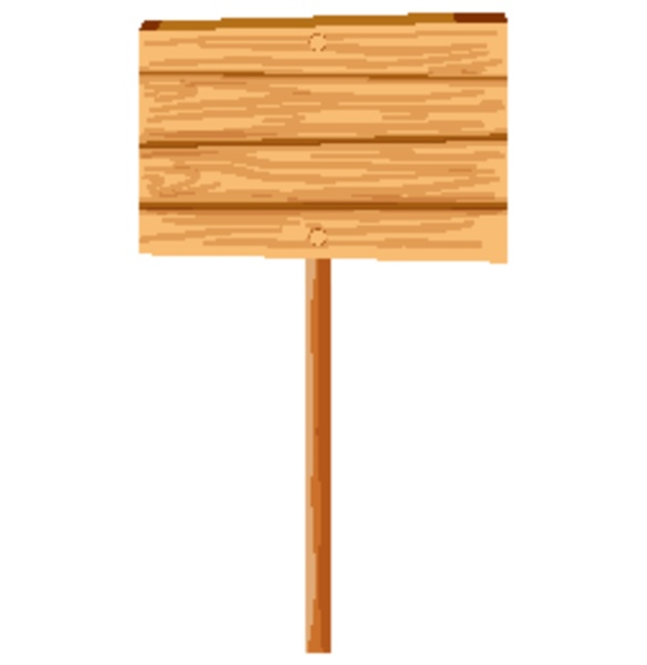 wooden board template on white background