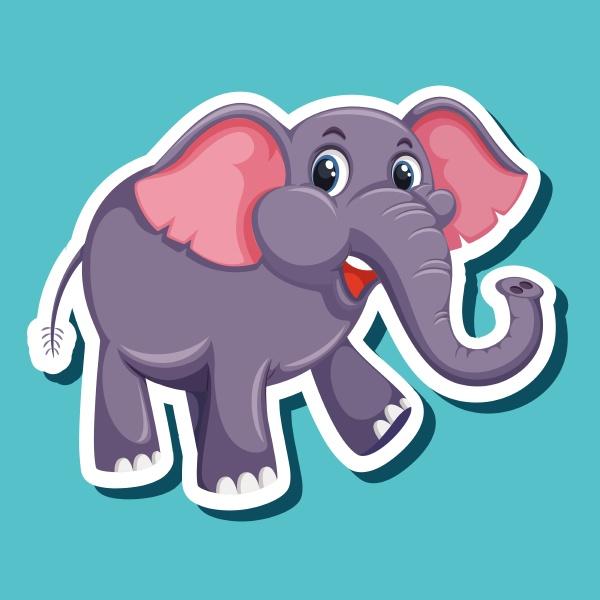 a simple elephant sticker