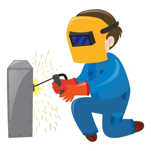 electrician fixing the metal box