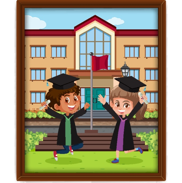 a picture of children in graduation