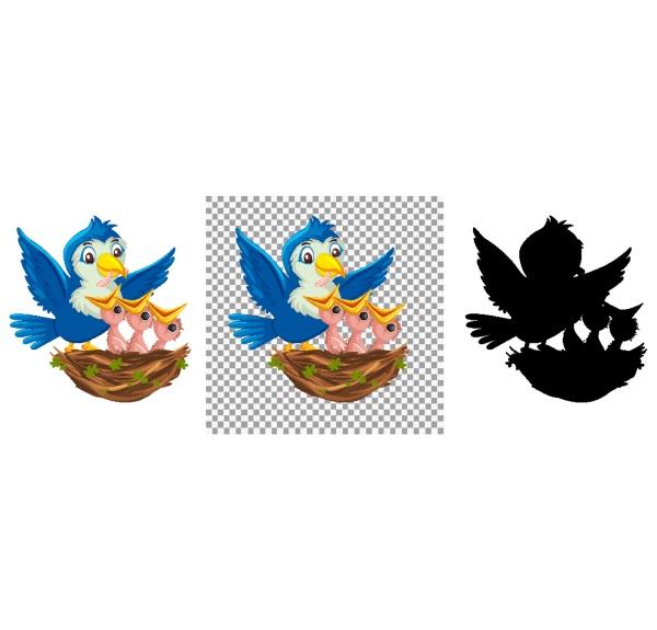 bird chicks cartoon character
