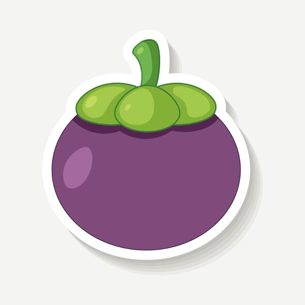 sticker design for mangosteen