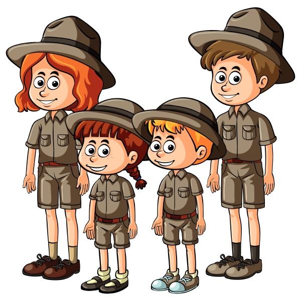 people in safari outfit