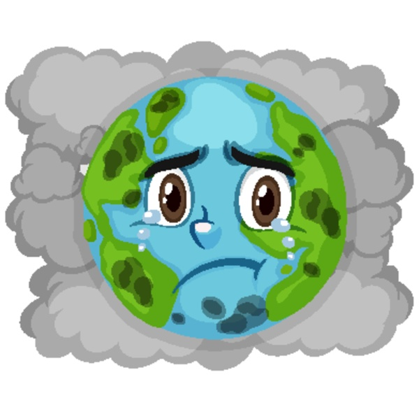 pollution on earth with dirty smoke