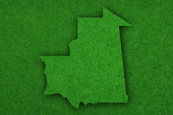 map of mauritania on green felt