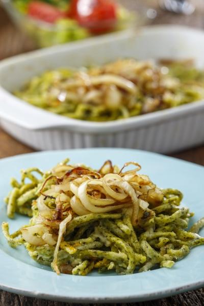 bavarian spinach spaetzle