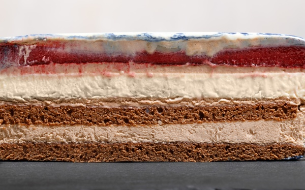 cross section of mousse cake