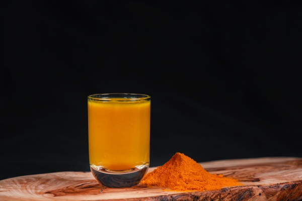 delicious turmeric drink served on a