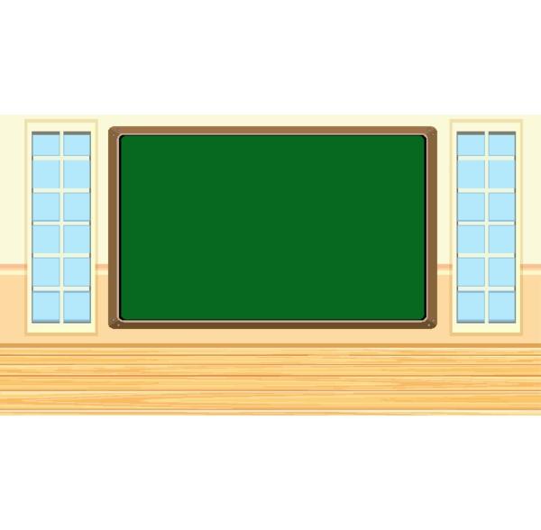 blackboard template on the wall