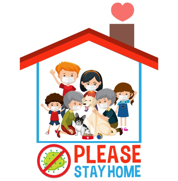 stay home stay safe font with