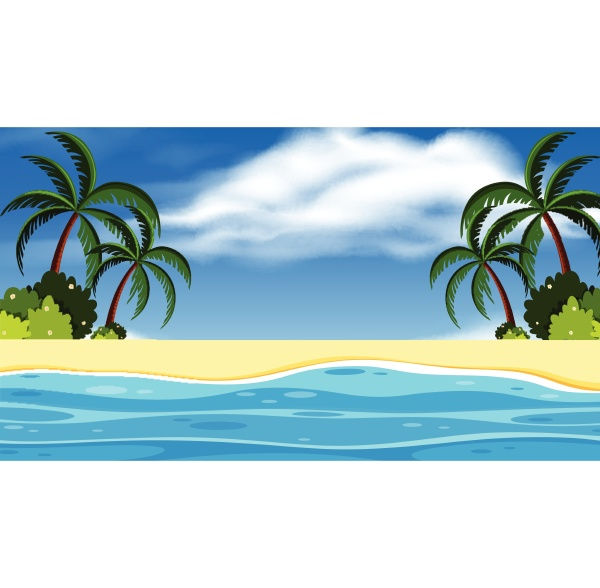 landscape background design with ocean and