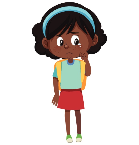 crying girl cartoon character