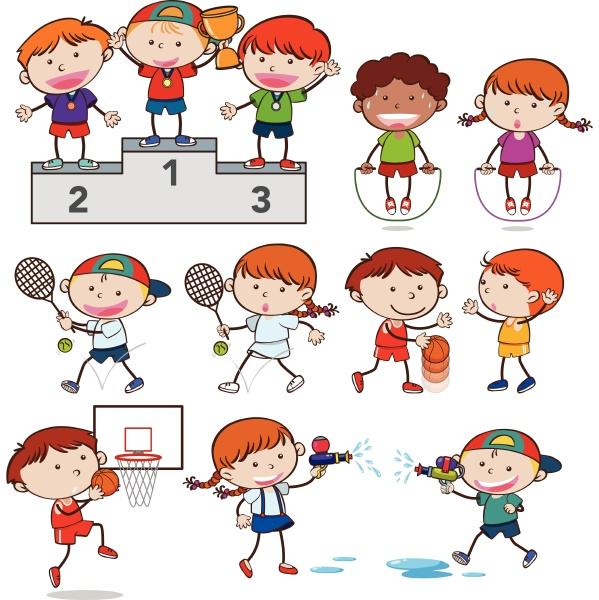 a set of sport activities