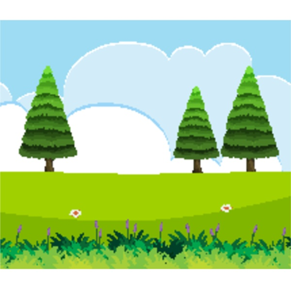empty nature scenes with green pines