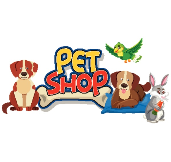 font design for pet shop with