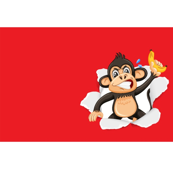 background template design with wild monkey