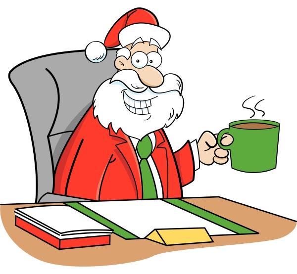 cartoon illustration of santa claus in