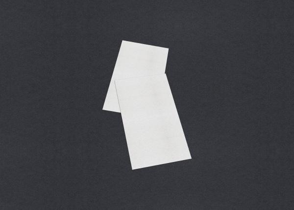blank white business card mockup stacks