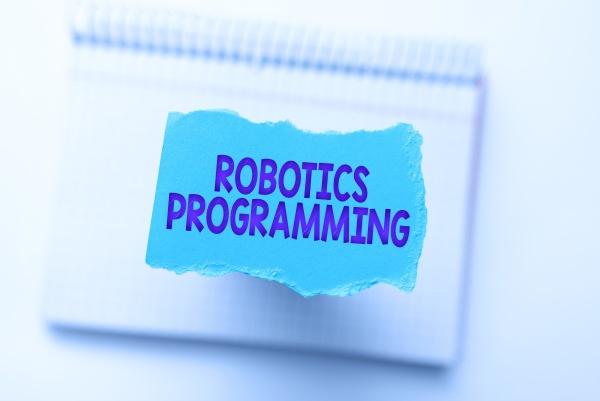 hand writing sign robotics programming word