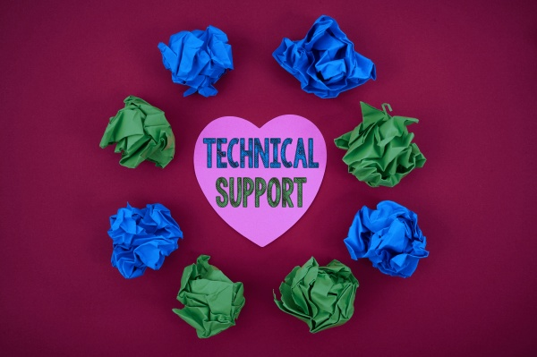 sign displaying technical support business overview