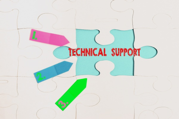 conceptual caption technical support word written
