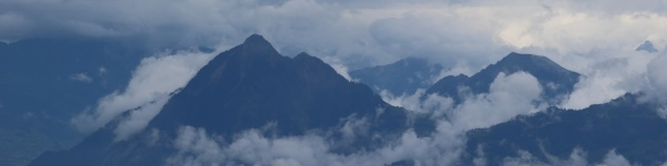 outlines of mount stanserhorn and other