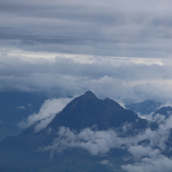 mount stanserhorn surrounded by clouds view