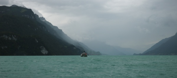 stormy weather at lake brienz