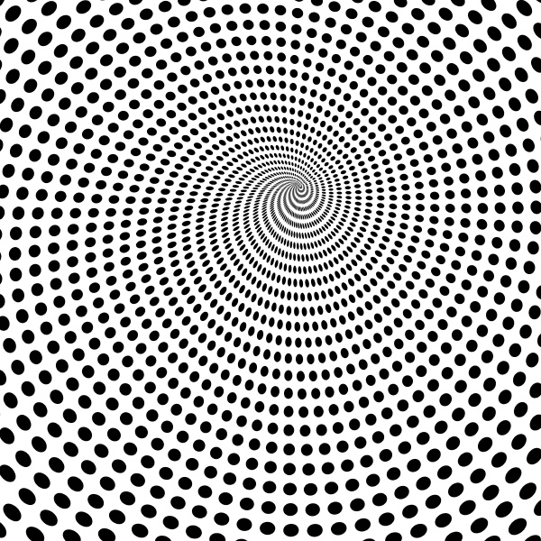 abstract background with vortex of dots