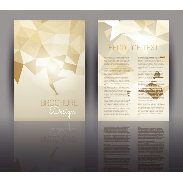 flyer design with a low poly
