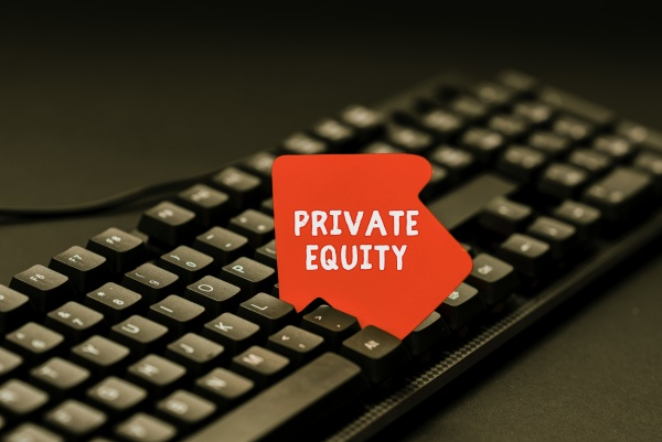handwriting text private equity word written