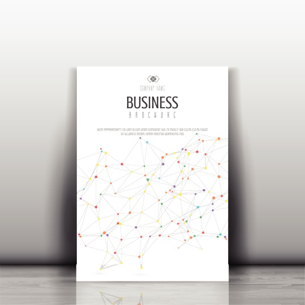 business brochure template with low poly