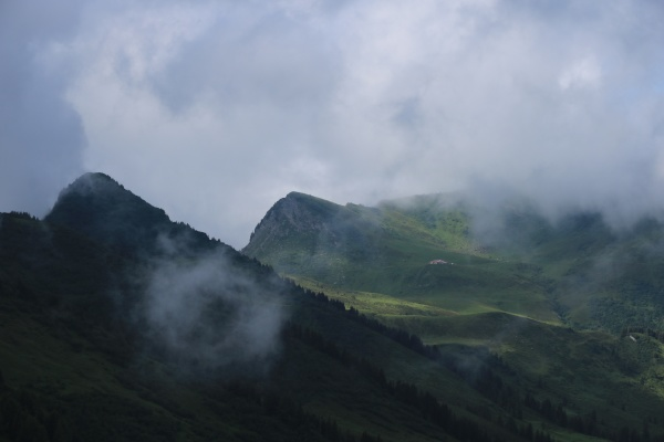 mountain landscape in the saanenland valley