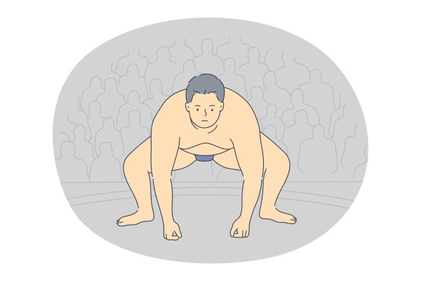 sumo and japanese traditional fighting concept