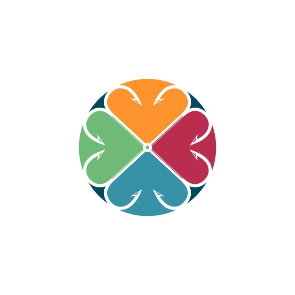 fishing hook logo icon vector
