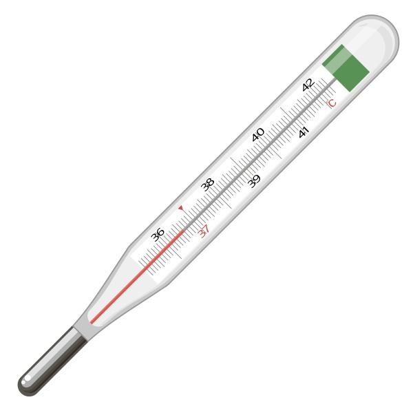 glass medical thermometer isolated on white