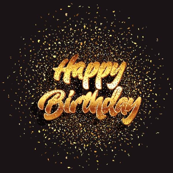 glitter happy birthday background 2303