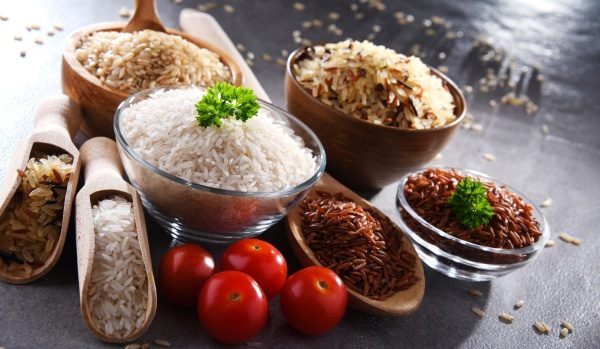 composition with different sorts of rice