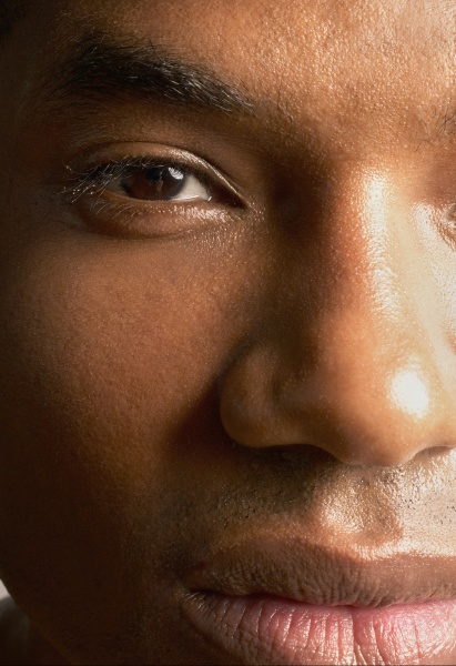 close up of mans face