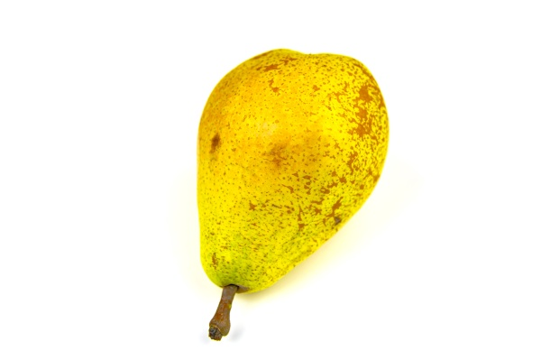 yellow pear isolated on a white