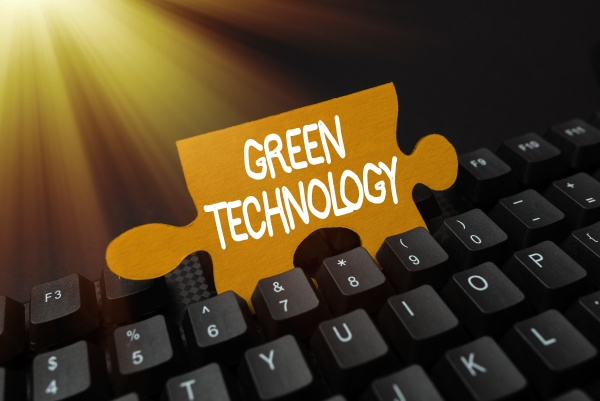 text showing inspiration green technology