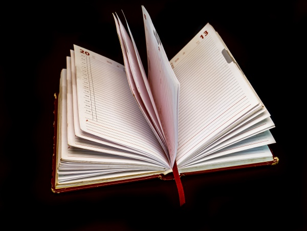 open white notebook pages on a