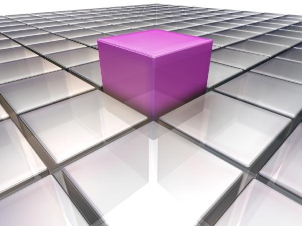 cube square block concept conceptual individual