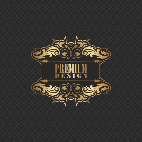elegant background design with premium logo