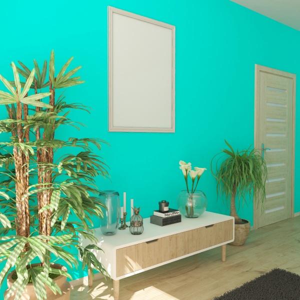 3d contemporary living room interior and